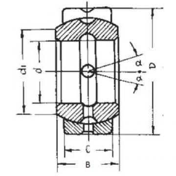 34,925 mm x 55,563 mm x 30,15 mm  34,925 mm x 55,563 mm x 30,15 mm  FBJ GEZ34ES FBJ Bearing