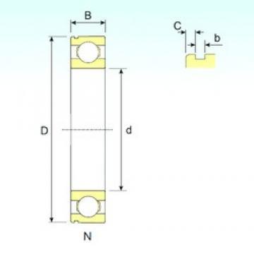 80 mm x 140 mm x 26 mm  80 mm x 140 mm x 26 mm  ISB 6216 N ISB Bearing