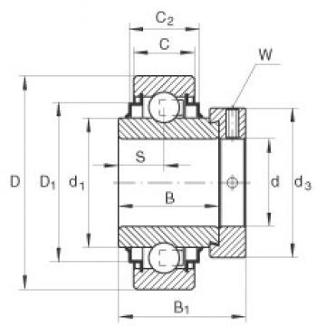 50 mm x 90 mm x 49,2 mm  50 mm x 90 mm x 49,2 mm  INA E50-KRR INA Bearing