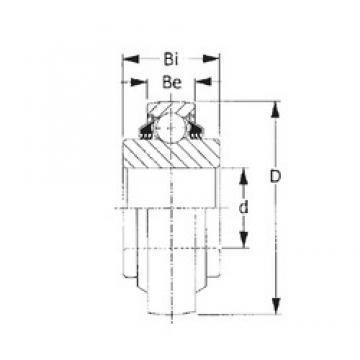 70 mm x 125 mm x 61,925 mm  70 mm x 125 mm x 61,925 mm  CYSD GW214PPB5 CYSD Bearing
