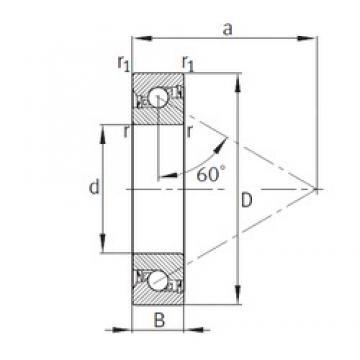 25 mm x 62 mm x 15 mm  25 mm x 62 mm x 15 mm  FAG BSB025062-2RS-T FAG Bearing