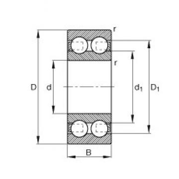 20 mm x 52 mm x 21 mm  20 mm x 52 mm x 21 mm  FAG 4304-B-TVH FAG Bearing