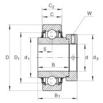 20 mm x 47 mm x 34,1 mm  20 mm x 47 mm x 34,1 mm  INA E20-KLL INA Bearing
