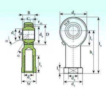 30 mm x 55 mm x 37 mm  30 mm x 55 mm x 37 mm  ISB TSF 30.1 ISB Bearing