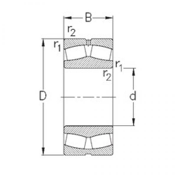 220 mm x 400 mm x 108 mm  220 mm x 400 mm x 108 mm  NKE 22244-MB-W33 NKE Bearing #2 image