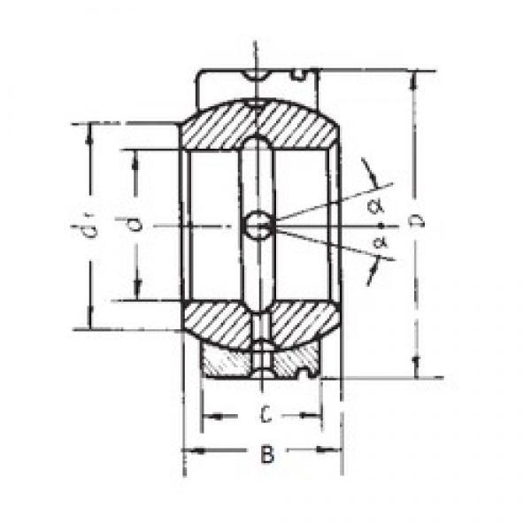 95 mm x 150 mm x 82 mm  95 mm x 150 mm x 82 mm  FBJ GE95XS/K FBJ Bearing #3 image