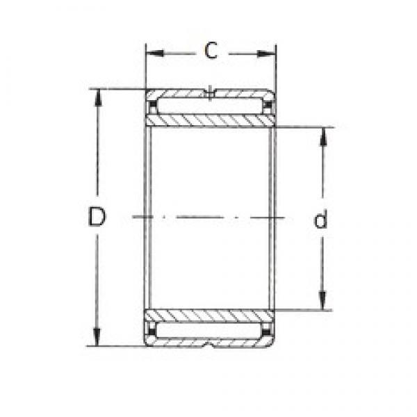 10 mm x 22 mm x 16 mm  10 mm x 22 mm x 16 mm  FBJ NKI 10/16 FBJ Bearing #3 image