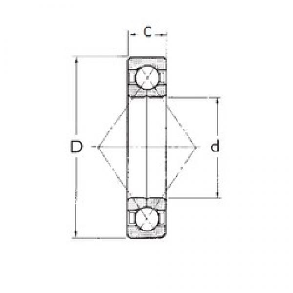 45 mm x 100 mm x 25 mm  45 mm x 100 mm x 25 mm  FBJ QJ309 FBJ Bearing #3 image