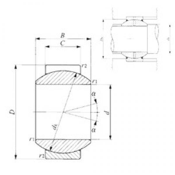 10 mm x 22 mm x 12 mm  10 mm x 22 mm x 12 mm  IKO GE 10G IKO Bearing #3 image