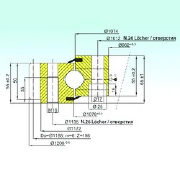 ISB EB1.25.1076.201-1STPN ISB Bearing #3 image